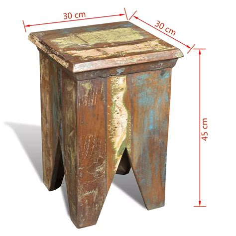 sedia sgabello antica sedia a sgabello in legno riciclato vidaxl it