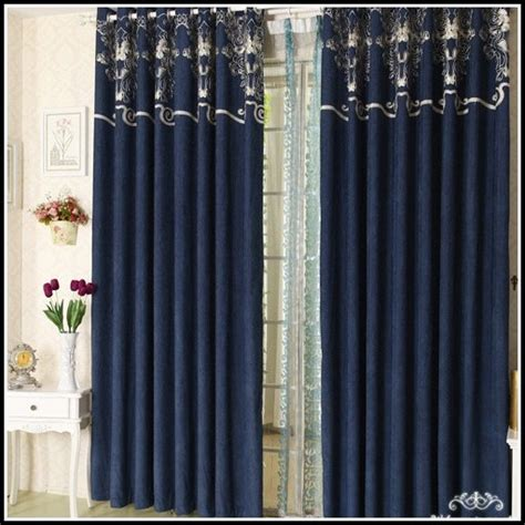 Black And Blue Curtains Royal Blue And Black Curtains Curtains Home Design