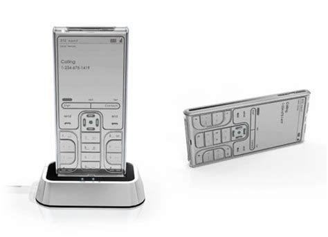 e ink display mobile phone e ink cell phone concept ubergizmo