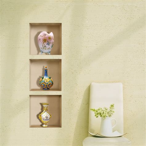 vintage vase 3d lattice wall decals pag removable