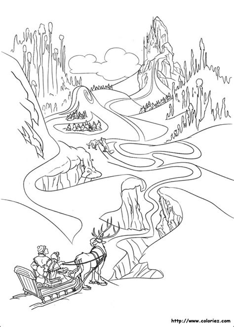 frozen winter coloring pages coloriage le palais des glaces