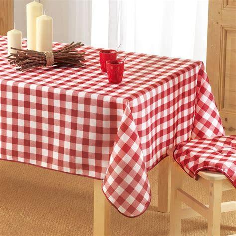 linge table nappe rectangulaire l240 cm vichy nappe de table