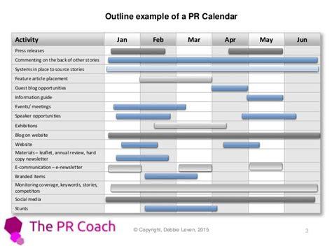 How To Create A Pr Calendar 2015 Pr Template