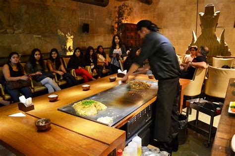 Japanese Dining Table by Teppanyaki Night At Shiro Worli The Black Sakura