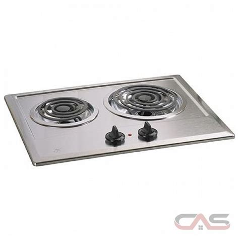 Ge 2 Burner Electric Cooktop ge jp201cbss cooktop electric cooktop 21 inch 2 burners stainless steel stainless steel