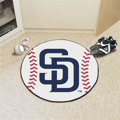 Baseball Area Rugs San Diego Padres Baseball Shaped Area Rug 27 Quot