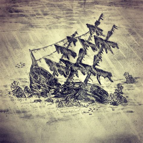 shipwreck sketch by ranz sketches