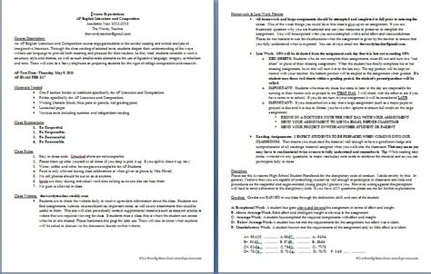 high school syllabus template syllabus the wordy