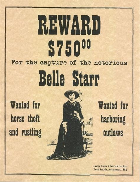 west outlaw posters belle starr  west wanted
