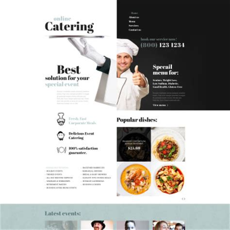 Catering Website Templates Catering Website Templates Free