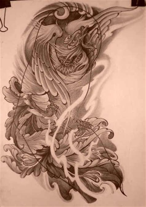 phoenix tattoo background 36 best phoenix images on pinterest japan tattoo tattoo