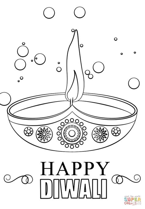 Coloring Pages Diwali Candle Coloring Page Free Printable Diwali Coloring Pages
