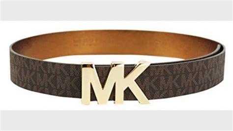 m logo designer belt michael kors signature belt with mk plaque m brown