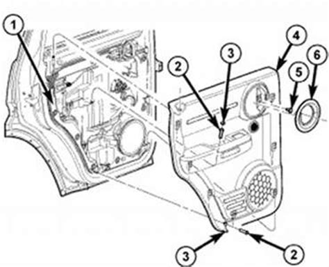 Diagrams To Remove 2010 Dodge Nitro Driver Door Panel