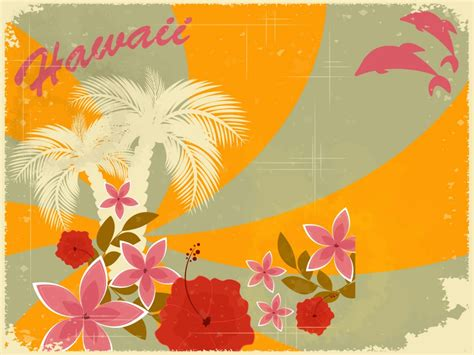 hawaiian powerpoint template hawaiian retro ppt backgrounds design