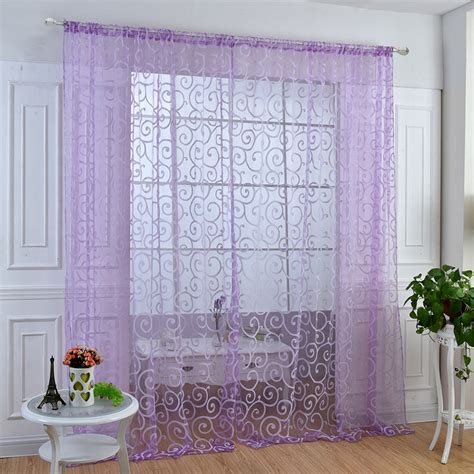 modern valance curtains modern voile sheer window curtains room door panel drapes