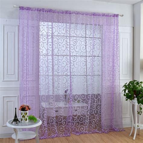 Modern Valance Curtains Modern Voile Sheer Window Curtains Room Door Panel Drapes Scarfs Decor Valance Ebay