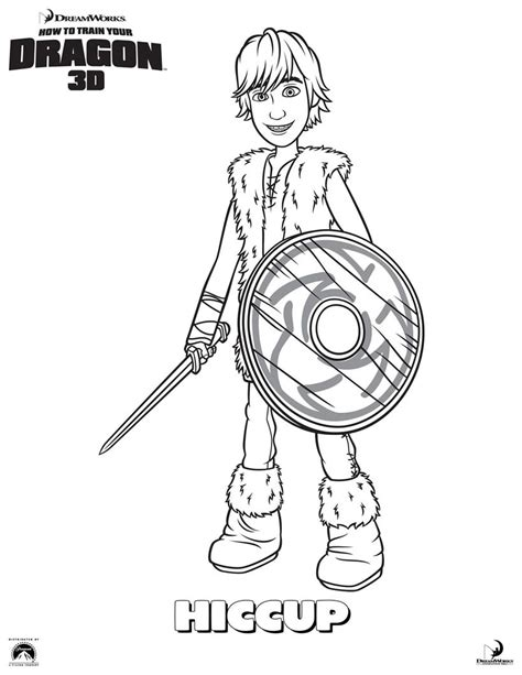 hiccup coloring pages hellokids com