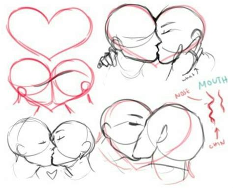 couple kissing how to draw manga anime how to draw