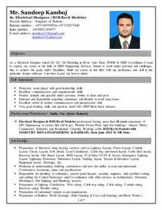 Sandeep Kamboj Cv Electrical Designer Amp Bim Revit Modeler