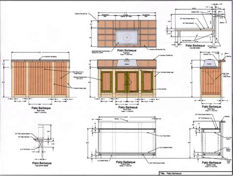 Outdoor Kitchen Blueprints | outdoor kitchen plans pictures of kitchens