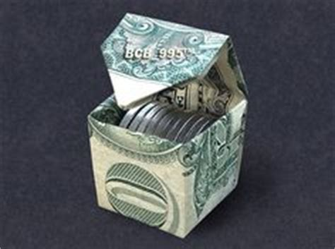 Money Origami Cube - 1000 images about dollar origami on money