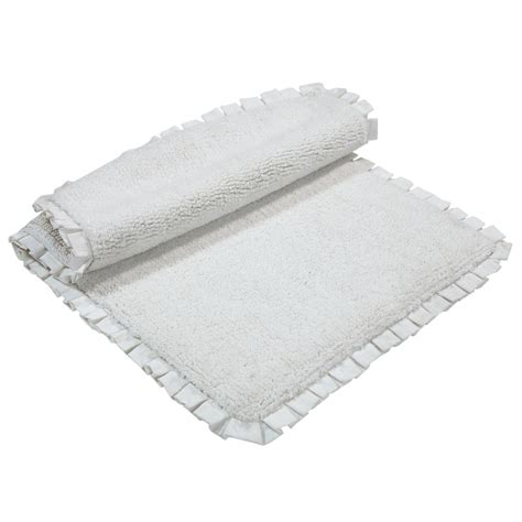 chesapeake merchandising verona pleat trim linen 2 ft chesapeake merchandising verona pleat trim ivory 2 ft x 3 ft 4 in 2 bath rug set 45852