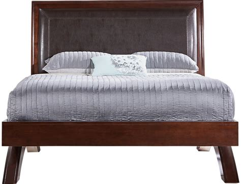 rooms to go belcourt cherry 3 pc queen platform bed