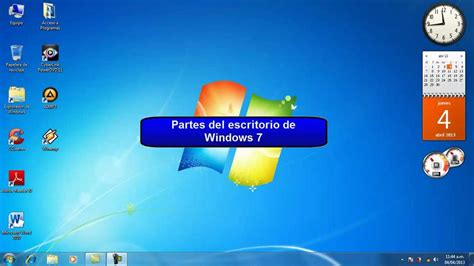 escritorio windows 7 para windows 8 windows 7 partes escritorio