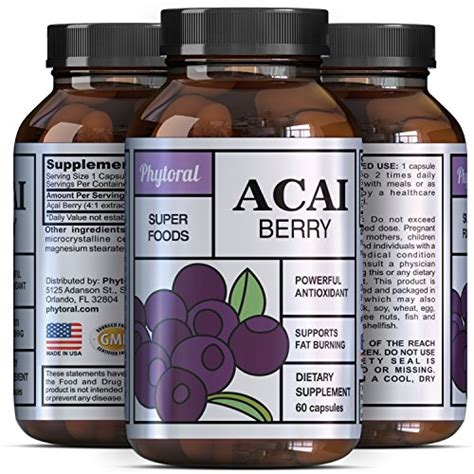 Smoothie King Detox Pills by Acai Berry Antioxidant Supplement Cardiovascular