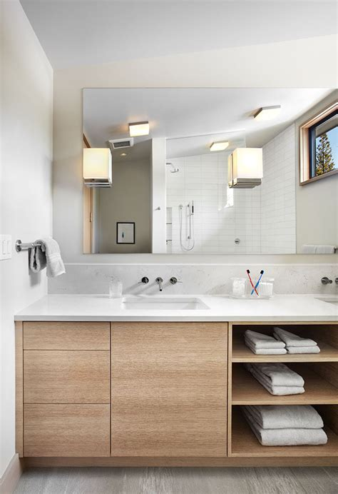 15 Exles Of Bathroom Vanities That Have Open Shelving Bathroom Vanity Shelving