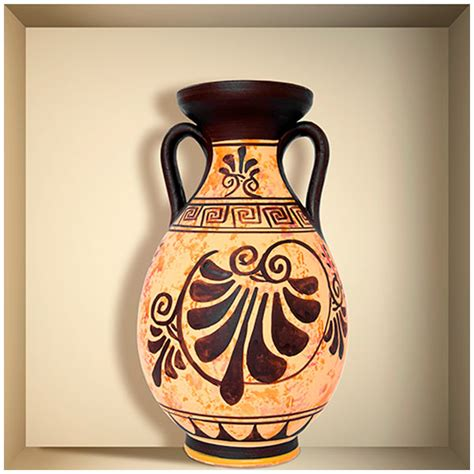 vaso greco adesivo murale nicchia di un vaso greco