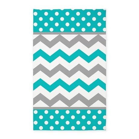 teal chevron area rug teal and gray chevron polka dots area rug by printcreekstudio