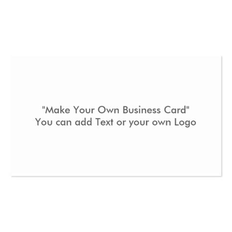 make you own card make your own business card zazzle
