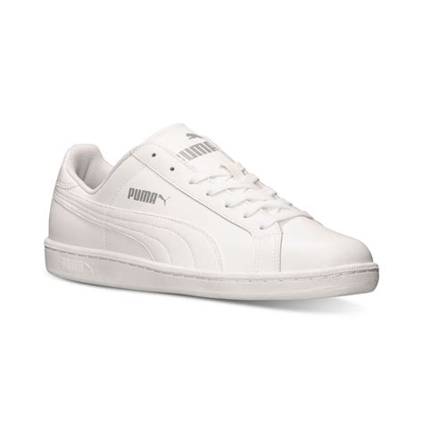 white mens sneakers s smash leather casual sneakers from finish line