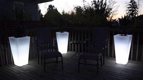 led light up flower pot garden glow planter 100