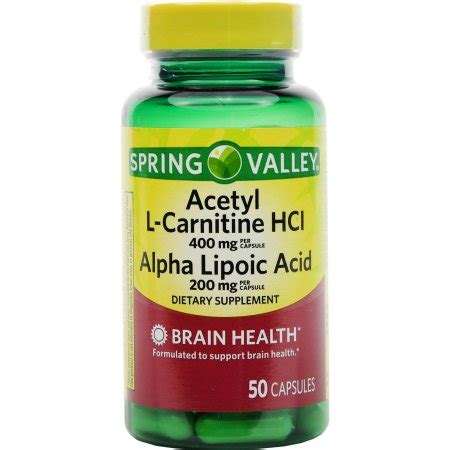 Alpha Lipoic Acid Brain Detox by Valley Acetyl L Carnitine Hcl Alpha Lipoic Acid