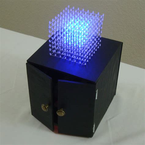 Led Projie 8x8x8 led cube kit introduction pyroelectro news