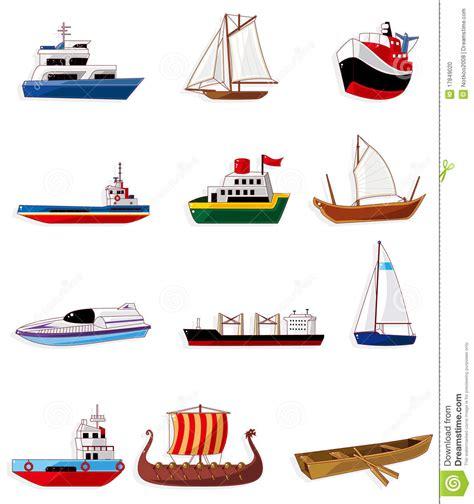 boat cartoon marine cartoon boat icon stock vector illustration of rope