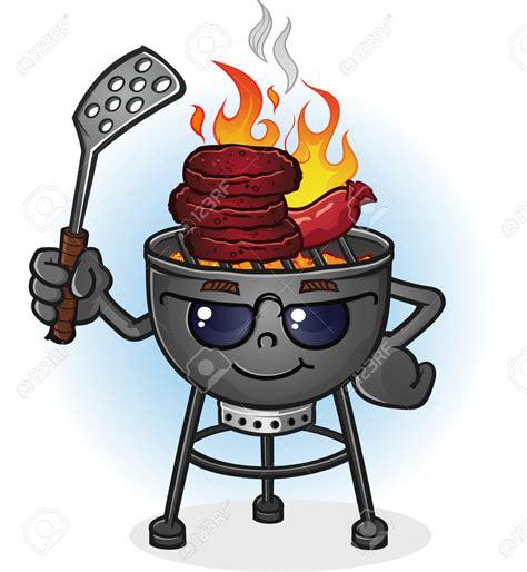 Image Grille by Barbecue Clipart Bbq Smoker Pencil And In Color Barbecue