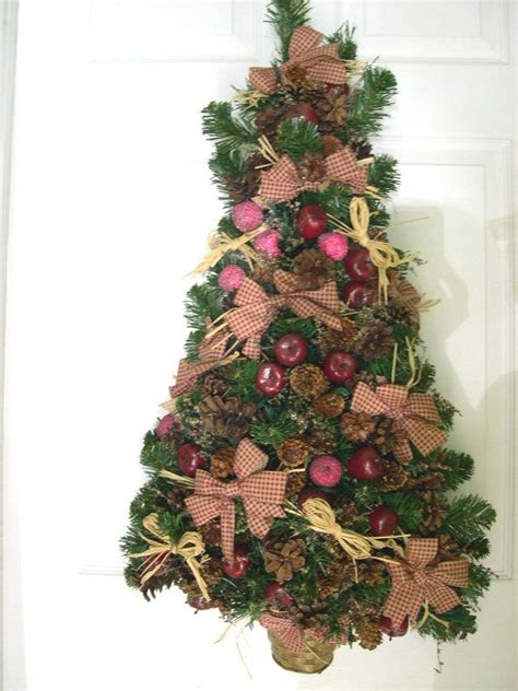 christmas tree wreath country style wreath wall