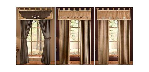 western window curtains western southwest drapes and shearling lined valances