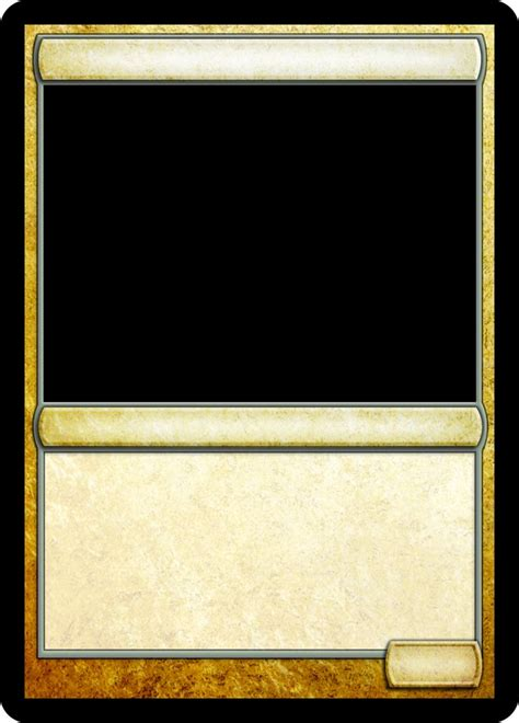 card gaming template 16 best images about mtg templates on black