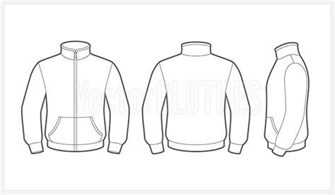 jacket template jacket outline pictures to pin on pinsdaddy