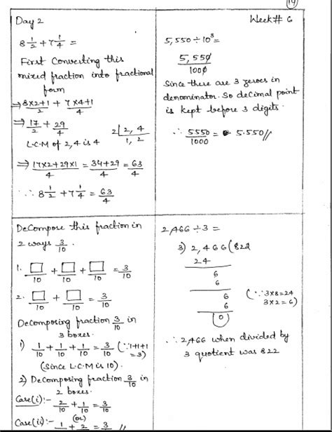 Math 4 Today Grade 5 Worksheets by Common Math 4 Today Grade 5 Solutions Week 6
