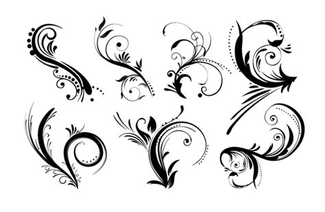 14 free design elements vector graphics images download roundup of free vintage ornament floral vectors