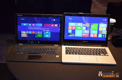 Lenovo Thinkpad Vs Asus Laptop asus transformer book flip tp300 vs lenovo 2 pro photos and mobile geeks
