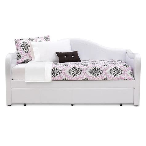 White Trundle Daybed Brenton White Daybed With Trundle