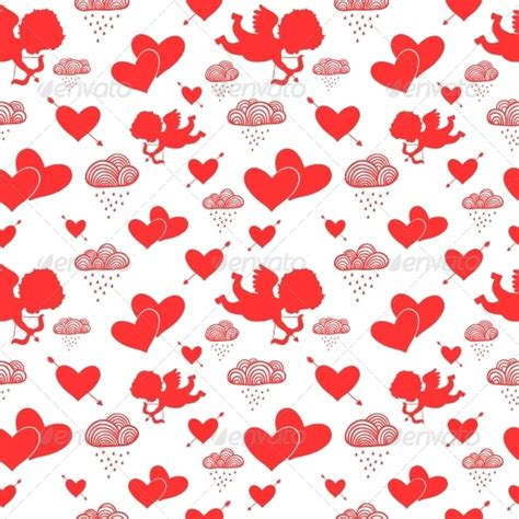 cute valentine pattern valentine cupids seamless pattern by macrovector