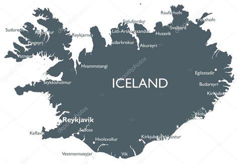 iceland map vector vektor island karta stock vektor 169 lynx v 90605576